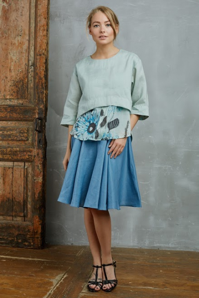 Блуза из крапивы цвета нифрит