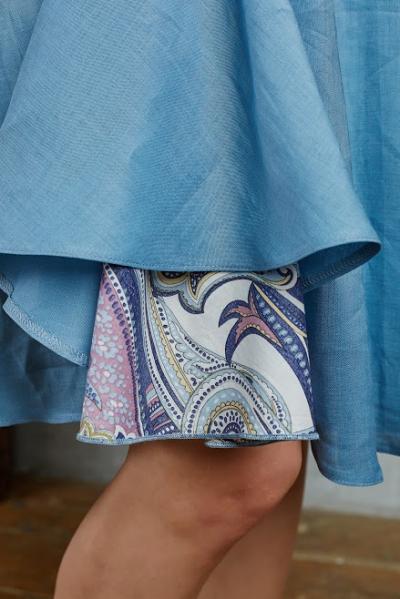 Юбка из крапивы сине-голубая