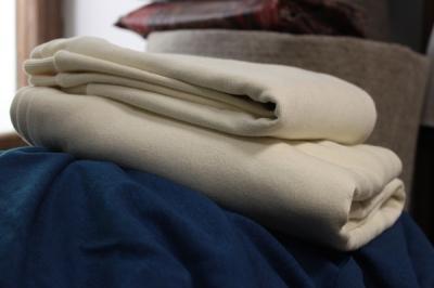 Ткань трикотаж утепленный натурального цвета
