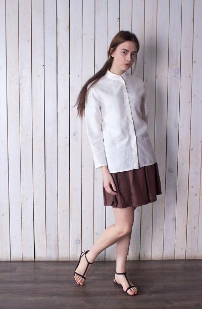 Женская блуза из конопляной ткани