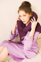 Фиолетовая жилетка