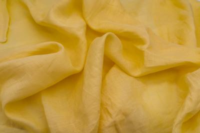 Желтая ткань из крапивы