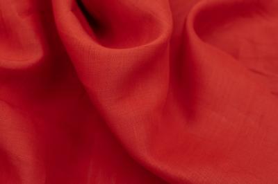 Трикотаж из крапивы красно-оранжевый