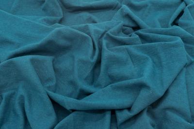 Утепленный трикотаж цвета синей морской волны