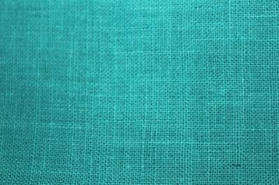 Бирюзовая конопляная ткань