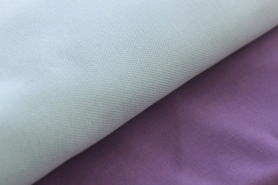 Organic cotton fabric of lavander colour