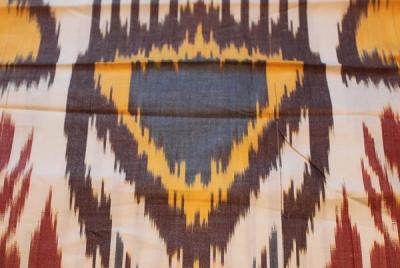 Натуральный шелк в коричнево-оранжевой гамме
