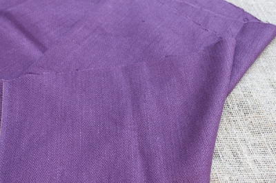 Wool with hemp fabric of plum colour