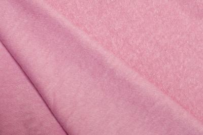 Ткань трикотаж утепленный розовый