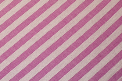 Cotton striped fabric, pink strip