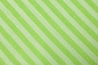 Green striped organic cotton fabric