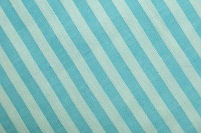 Blue striped organic cotton fabric