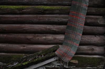 Шарф ручного ткачества