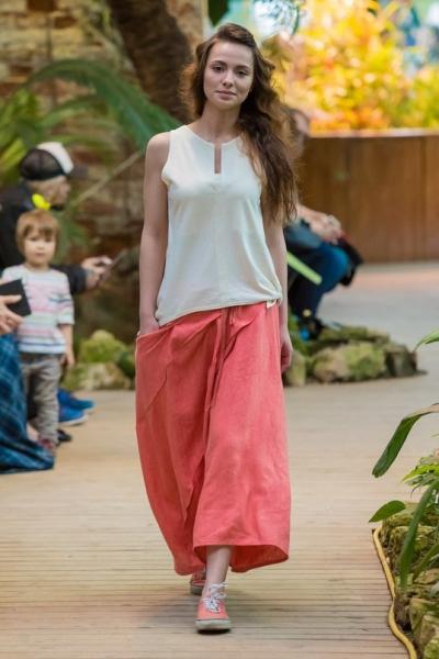 Крапивная длинная юбка
