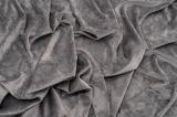 Трикотаж флисовый утепленный серого цвета