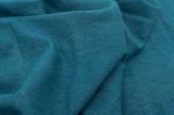 Натуральная хлопок ткань, цвет глубокой морской волны