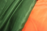 Nettle fabric of emerald colour