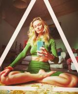 Костюм для йоги из трикотажа