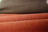 Трикотаж утепленный кирпичного цвета